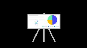 黑板报数据图表分析投影布2.5d插画素材