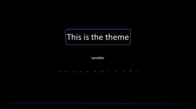 紫色轻奢创意线条欧美简约PPT模板