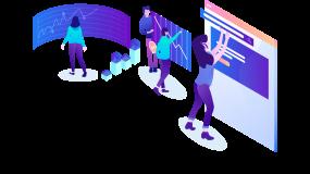 数据分析科技商务蓝色工作场景2.5d