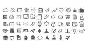 扁平化Icon常用矢量图标PPT素材