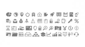 矢量Icon小图标1组 PPT直接使用