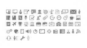 电脑人物文件夹办公小Icon矢量图标