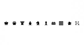 棋牌小Icon图标 数量不多 PPT图标素材