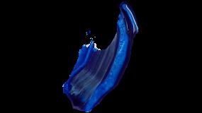 蓝色油墨PNG免抠图素材PPT直接使用
