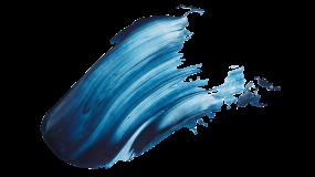 蓝色油漆笔刷效果 油墨高清PNG素材