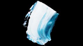 淡蓝色油漆笔刷 泼漆墨效果PNG素材