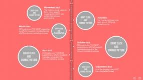 PPT商务图表公司发展介绍大事件大事记关系图表