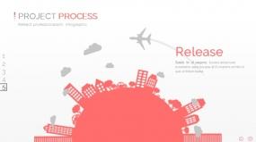 PPT图表飞机旅行全球发展规划创意图表素材