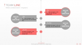 PPT图表时间规划竖版时间轴创意图表素材