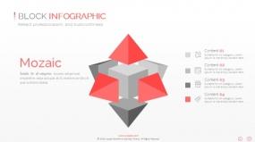 PPT关系图表方块中心发散创意3D创意图表素材