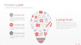 PPT关系图表创意电灯泡idea图标云创意图表素材