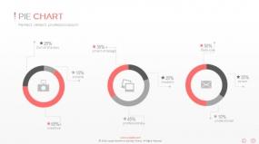 PPT关系图表创意圆形环形图表数据图表素材