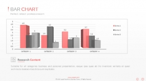 PPT关系图表创意3D柱形图数据图表素材