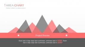 PPT关系图表创意山峰三角形拼接效果图表素材