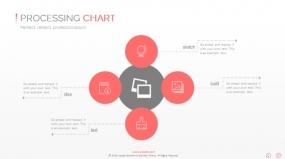 PPT关系图表创意圆形并列关系图表素材