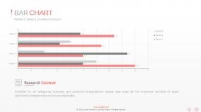 PPT关系图表创意条形图数据堆积图表素材