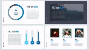 【简约风】蓝色系浅色 市场营销计划PPT免费模板下载 商业演示 28P