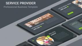【深色背景】客户服务品牌介绍企业宣传PPT免费模板下载