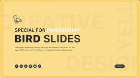 【简单有趣】创意风格 页数不多的免费PPT模板