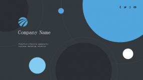 【简约】现代轻设计 商务蓝色 工作总结汇报 PPT免费模板