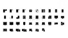 多种智能硬件的PPT小图标素材下载