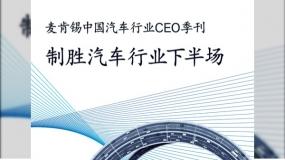 麦肯锡:2030中国汽车行业展望 制胜汽车行业下半场(210页,附下载)