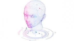 智慧大脑 高端科技风 粒子网状素材