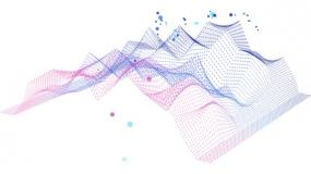 峰谷峰顶 波浪粒子型 网状图片素材