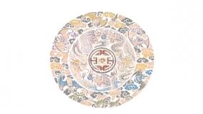 一个比较艺术抽象的中国风圆形图案