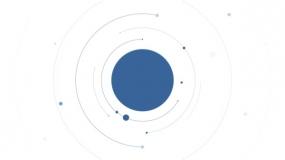 一个商务蓝色的圆形+线条组合形状