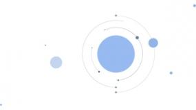 圆形加线条 中心散开的布局样式