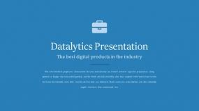 【73页】蓝色系行业大数据分析PPT模板