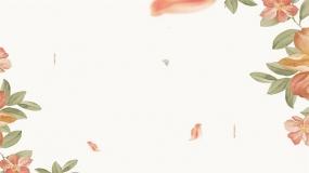 6张花花草草艺术边框的高清PPT背景图片下载