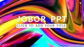 【Jobor】大胆点,何不试试这套满屏油墨感的PPT模板