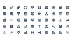 通用办公矢量小图标Icon 计算机/人物/喇叭/放大镜…