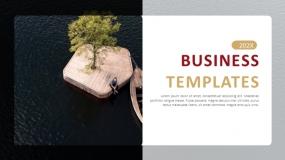 一套红金色搭配的企业介绍PPT模板