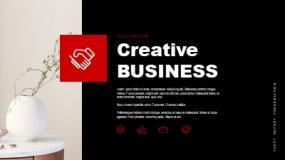 一套深红色系列+深色背景的企业简介机构宣传PPT模板免费下载