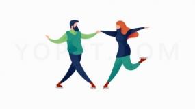 双人跳舞蹈透明