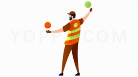 平衡球选手PNG格式