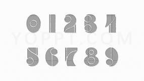 欧式文艺复兴类0-9数字符号免费PNG下载