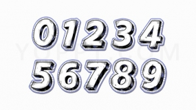数字手绘描边效果0-9项目符号PNG图片
