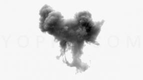 炫彩墨迹效果PNG透明图片