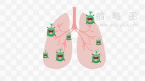医疗肺部感染病毒效果PNG免抠图
