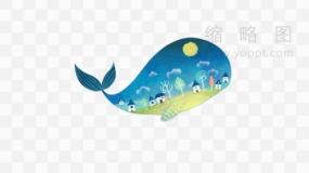 超具艺术范的鲸鱼图片素材129 PNG透明图片