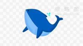 梦幻鲸鱼素材44 免费png素材