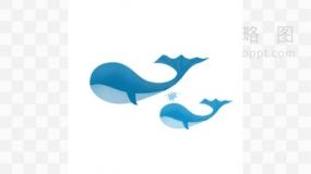 鲸鱼插图素材65 PNG透明图片