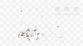 飞溅石子素材png文件