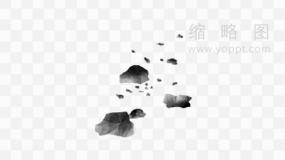 各种石头炸裂效果特效png文件