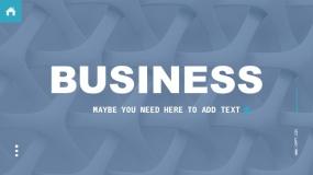 一套蓝绿色商业计划报告PPT模板下载(30页)