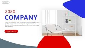 经典红蓝色通用品牌营销方案PPT模板(31页)